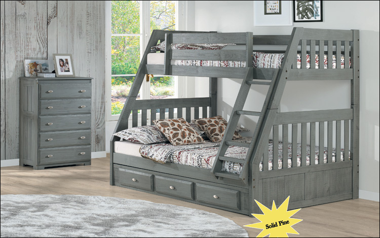 Charcoal Bunkbed Twin Full