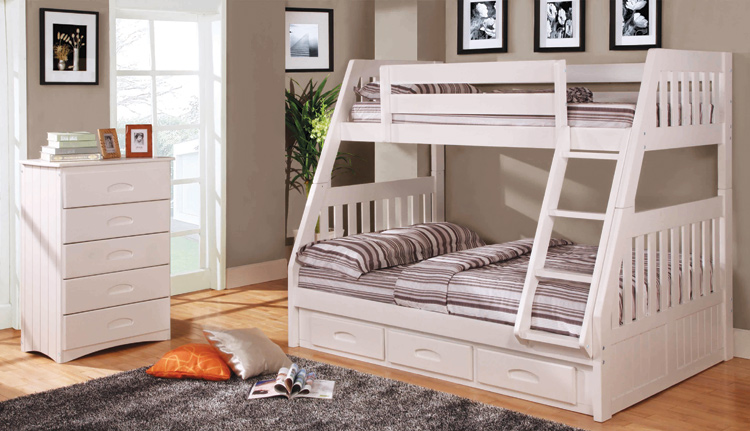 Bateman House Furniture Solid Wood Bunk Beds Furniture Tweed